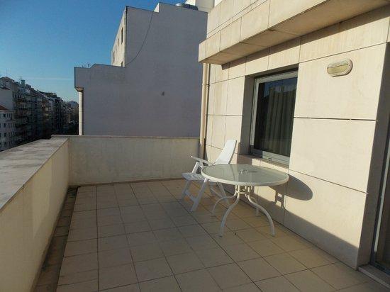 Hotel Travel Park : terrasse de la chambre