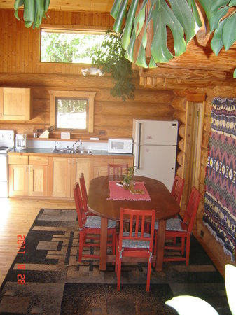 Blaeberry Mountain Lodge: log lodge kitchen