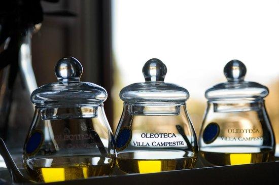 Olive Oil served at Ristorante L'Olivaia di Villa Campestri Olive Oil Resort