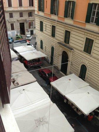 Hotel Domus Praetoria: View from window, room 208