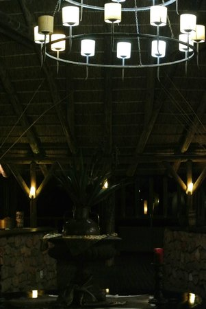 Kwantu Private Game Reserve: The luxury lodge at night