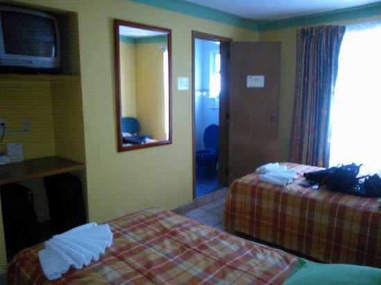 Asi Es Mexico Hosteria : habitación con 2 camas twin y tv
