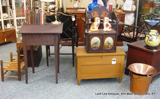 Loch Lea Antiques: Old surfaces and original paint another specialty.