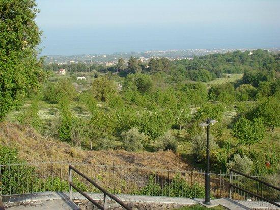 Antico Borgo Petralia: uitzicht op zee