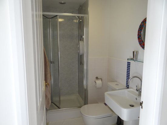 The Allotment House: Enclosed shower