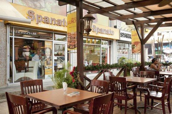 Spanhoek Boutique Hotel: Outdoor terrace (ground floor)