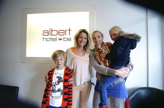 Alberthotel : reception with Els Thibau visiting