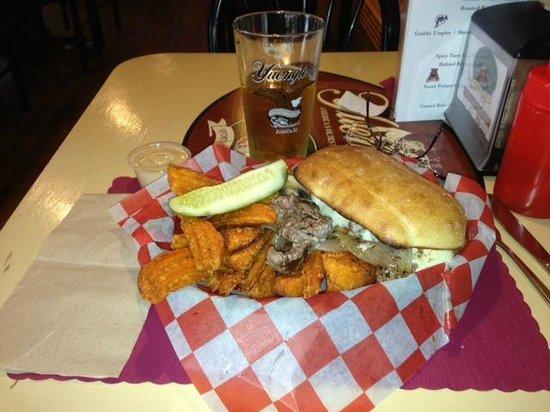 Maroon's: So Yummy!!  Cheese steak and sweet potato fries