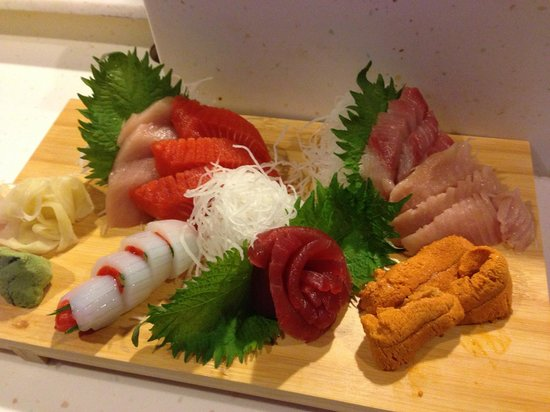 Shima Sushi: Assorted sashimi featuring a delicious variety of fresh, local seafood
