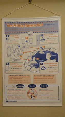 Hotel Edoya: instrucciones onsen