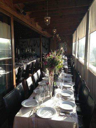 Emily Moon River Lodge: Restaurant set for the Wedding breakfast