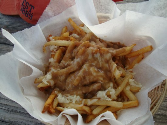 KAIBO Beach Bar & Grill: Cheesy Chips and Gravy (Poutine on the menu)