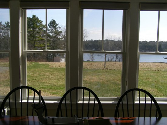 SpinnAcres Alpaca Farm Retreat: View from our dining room