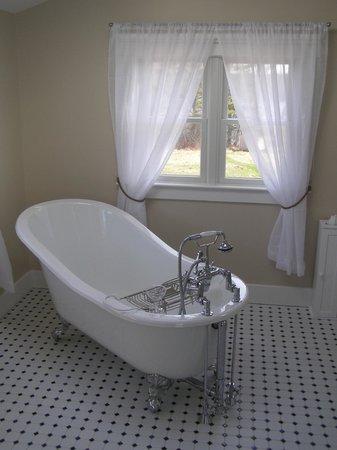 SpinnAcres Alpaca Farm Retreat: Skylight Room Bath
