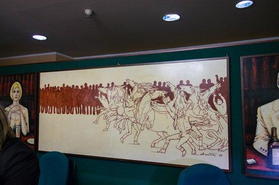 Hotel Minerva Palace: Картина на reception.