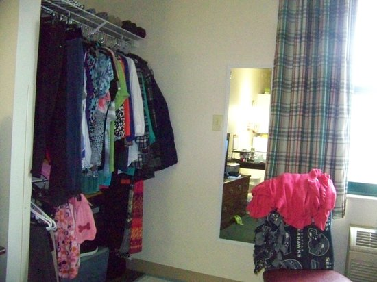 "Extended Stay America - Fayetteville - Springdale: Closet in the ADA room. I was allowed to ""dress"" the room like home."