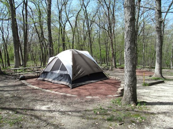 Pammel Park: Tent Area of Campgrounds