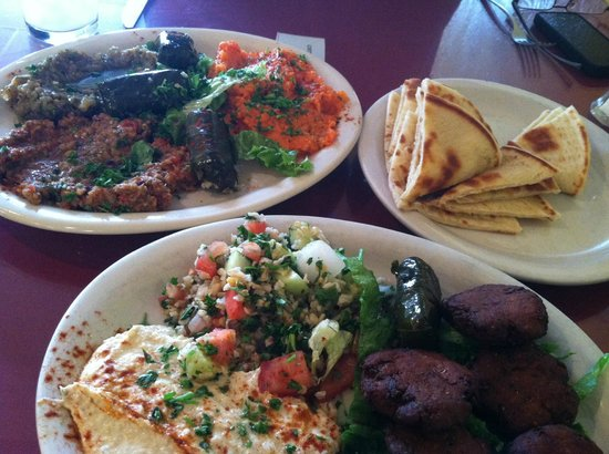 Pyramid Cafe: Mediterranean Falafel Plate and Tunisian Combo Plate