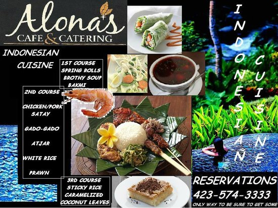 This Week At Cafe Alona Thurs- Sat Dinner Feature