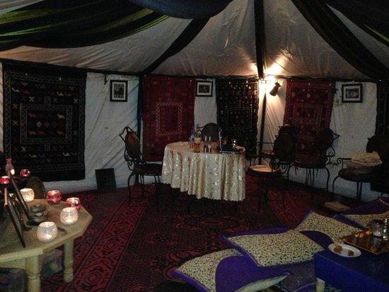 "Ali & Sara's Desert Palace: ""restaurant"" at the camp"