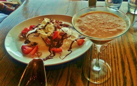 Clinkerdagger : Chocolate waffle cone sundae with mocha-tini
