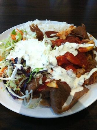 Istanbul mixed kebab at the Epicurean Food Hall.