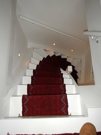 The Weavery Boutique Bed & Breakfast: The steep stairs from the 3rd fl suite (you'll get used to it!).