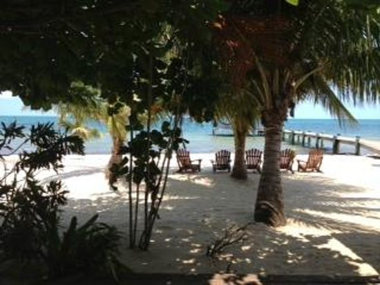 Maya Beach Hotel: View from deck of Hibiscus Room