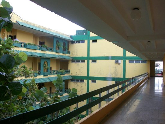 Ciego de Avila, Cuba: 'courtyard' view from 4th floor