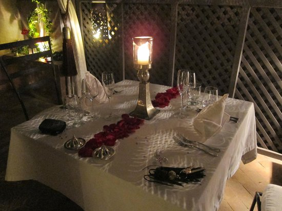 Riad Noir d'Ivoire: Candle light Dinner