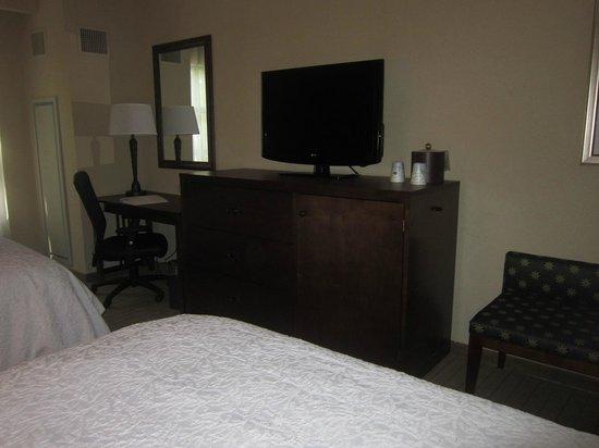 Hampton Inn Columbus/South-Fort Benning: tv and desk