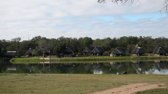 Arathusa Safari Lodge: View of camp from across the water.
