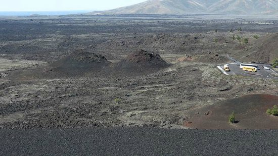 Craters of the Moon National Monument: View of some cinder cones from the top of one.