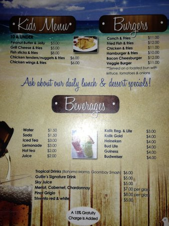 Gullies Restaurant And Bar