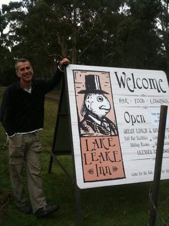 Publican Dale welcomes patrons to Lake Leake Inn.
