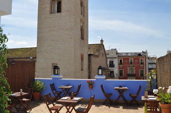 Pizzeria el Nómada Pza San Marcos: terraza panoramica