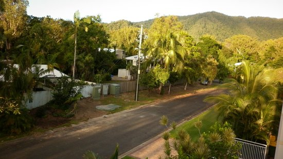 Villa Beach: View of the hinterland from the back balcony
