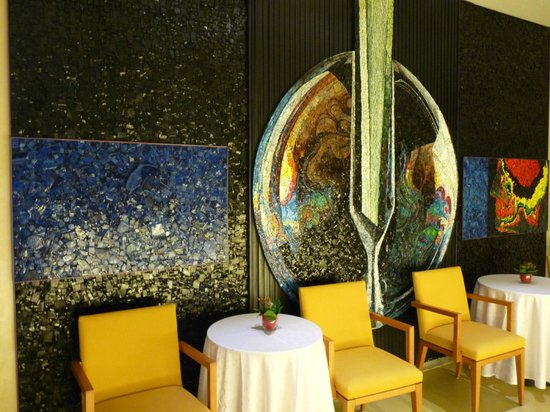 Grand Hotel President: mosaïque au bar de l'hotel