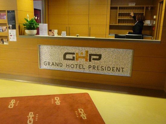 Grand Hotel President: Réception du Président