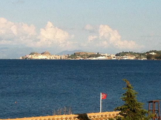 Kontokali Bay Resort and Spa: view across bay to Corfu Town
