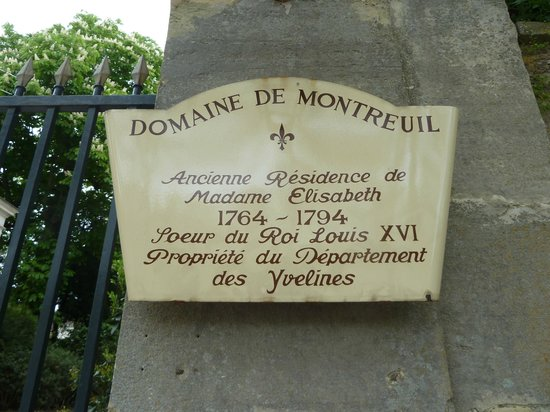 Parc du Domaine de Madame Elisabeth : Entrée du Domaine sur l'Avenue de Paris au n° 73