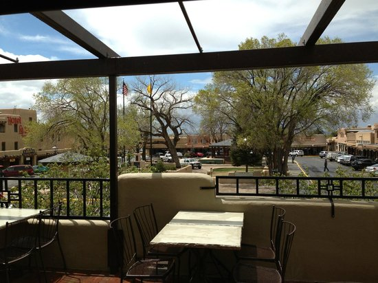 Gorge Bar and Grill: gorges bar and grill view of the plaza in Taos