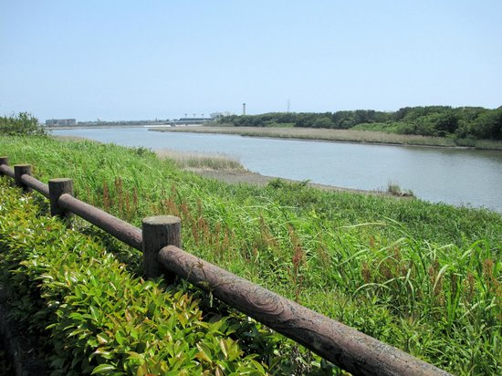Enshunada Kaihin Park: 公園から見える馬込川