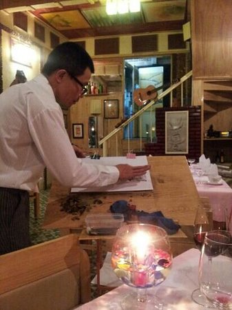 Artist Alley Restaurant: the artist :-)