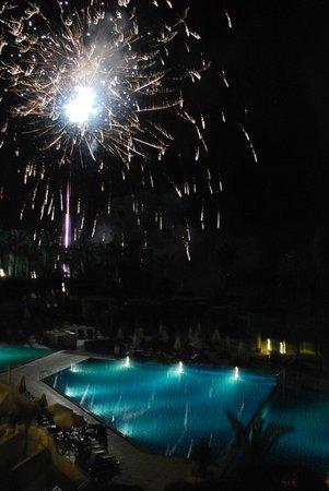 Mr & Mrs Trevor Wedding - Fireworks at the Elias Beach Hotel