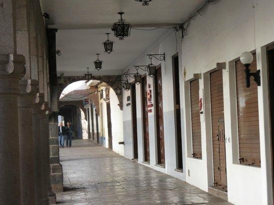 Casa Andina Standard Cusco Plaza: Hotel on the right