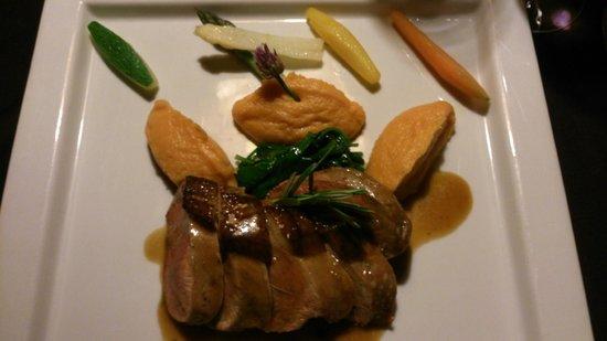 Restaurant l'Escarbot : Magret de canard et purée de patates douces
