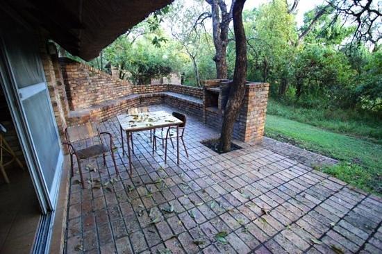 Berg-en-Dal: Patio of BA3U bungalow.