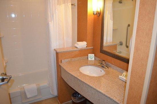 Holiday Inn & Suites Front Royal Blue Ridge Shadows : nice bathroom