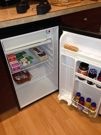 Snooze and Cruise Inn: contents of the fridge